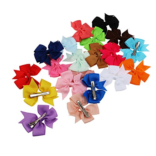 TINKSKY Girls Grosgrain Ribbon Flower