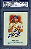 2010 allen ginter auto - 2010 Topps Allen & Ginter Aramis Ramirez Signed Auto Slabbed - PSA/DNA Certified - Baseball Slabbed Autographed Cards