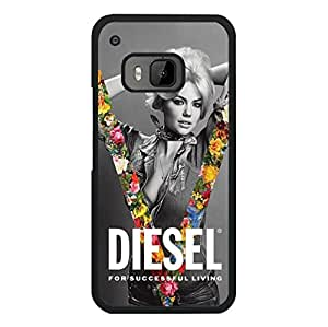 Classical Stylish Design Diesel Logo Snap On Htc One M9 Diesel Pattern Phone Case
