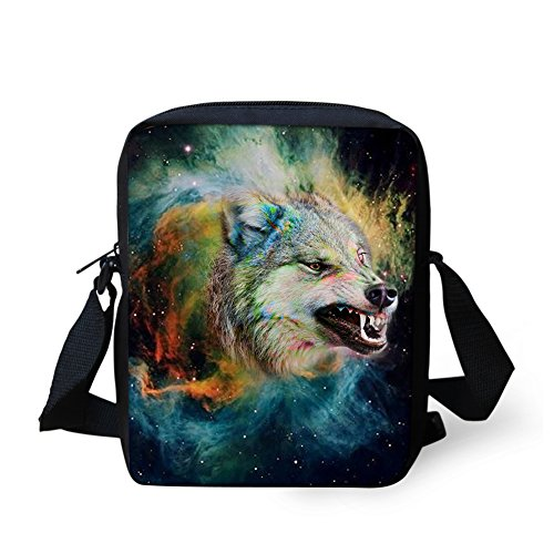 wolf Coloranimal Messenger Wolf Animal Pattern Cool Children Bags 2 for Baby SrzqFS7wW