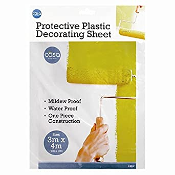 mrcaller plastic drop cloth painting building work home office improvement disposable drop cover sheet