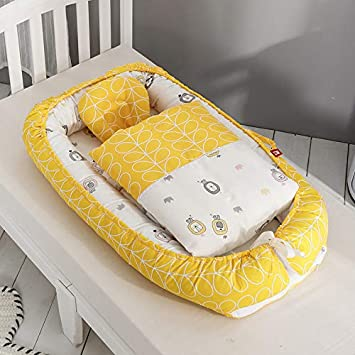 High Elasticity Pearl Cotton//Super Soft//Breathable//Portable//Removable Baby Bassinet Lounger Newborn 0-24 Months Cribs Co-Sleeping Pod