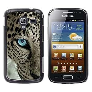 TECHCASE**Cubierta de la caja de protección la piel dura para el ** Samsung Galaxy Ace 2 I8160 Ace II X S7560M ** Leopard Pattern Blue Eye Intense Animal