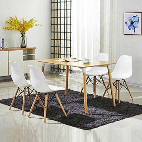 White Convenient Supper Backrest Chaise Set of 4 Inside Outside Beech Solid Wood Legs Perfect Ergonomic ABS Stylish Eats Bar Side Stool Extra Table Seating Kitchen Party Restaurant