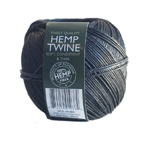 Hemp-Sisters-HTD-20-BK-20-Test-100-grm-Hemp-Twine-Ball-400-Length-Black