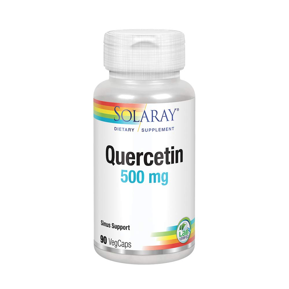 Solaray Quercetin 500mg | Support for Healthy Cells, Heart, Circulatory & Respiratory System | Bioflavonoids, Antioxidants, AMPK Activator | 90 Count: Health & Personal Care