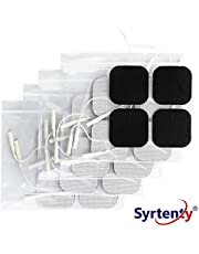 Syrtenty TENS Unit Pads 2x2 20pcs Reusable Replacement Electrode Patches for Electrotherapy