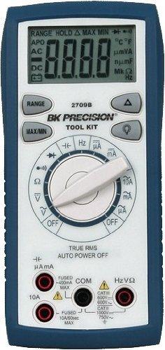 BK Precision 2709B Auto-Ranging, True RMS Digital Multimeter, 10 Amp, 750VAC, 1000VDC, 66 Megaohms, 66 Millifarads, 66 MHz