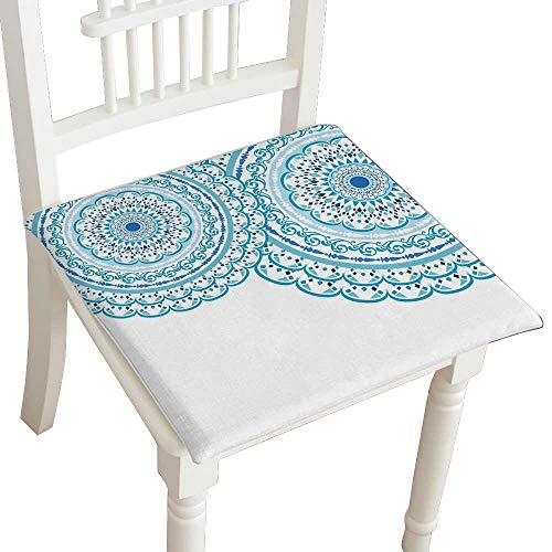 - HuaWuhome Dining Chair Pad Cushion Elegant Card with lace Ornament and Place for Text on with Seamless Wedding Invitation Mandala Blue Fashions Indoor/Outdoor Bistro Chair Cushion 30