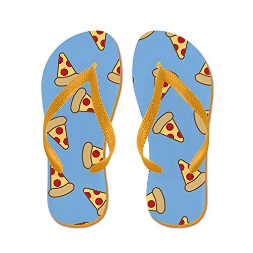 CafePress Cute Pizza Pattern - Flip Flops, Funny Thong Sandals, Beach Sandals Orange