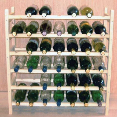 Midwest Homebrewing and Winemaking Supplies Vinland 42 Bottle Wine Rack 7 Wide by 6 High