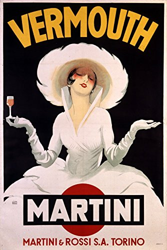 Vermouth - Martini (artist: Dudovich) Austria c. 1920 - Vintage Advertisement (16x24 SIGNED Print Master Giclee Print w/ Certificate of Authenticity - Wall Decor Travel Poster)