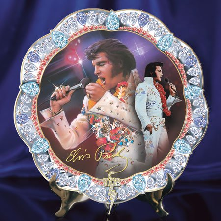 Retired Bradford Exchange Elvis Presley *Hawaiian Treasures* Plate