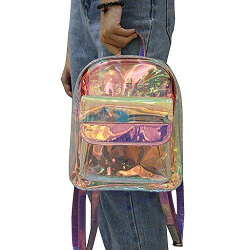 Tyjie Women Backpack Korean Transparent Travel Waterproof Shoulder School Bag by Tyjie (Image #2)