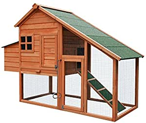 Merax Chicken Coop Wooden House Cage for Small Animals Hen Coop Nesting box (Chicken Coop#1)
