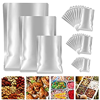 GXAO Mylar Bags for food storage, 30 Pieces 3 Sizes Metallic Mylar Aluminum Foil Flat Heat Sealing Bags Storage Bags Pouch for Food Coffee Tea Beans (5 x 7 Inch, 6 x 9 Inch, 8 x 11 Inch)