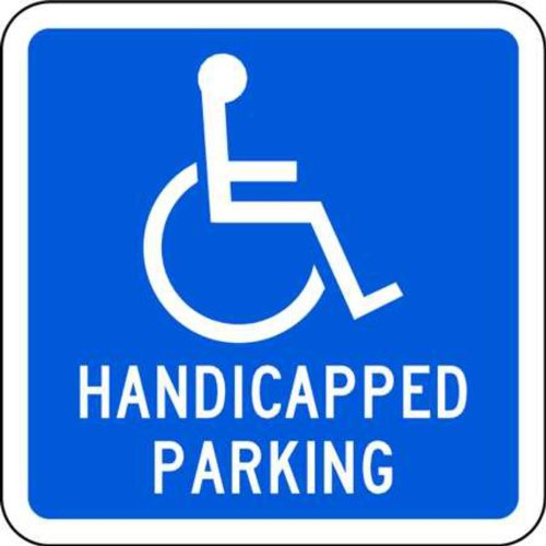 (ZING 2211 Eco Parking Sign, Handicapped Parking with Symbol, 12Hx12W, Engineer Grade Prismatic, Recycled Aluminum)
