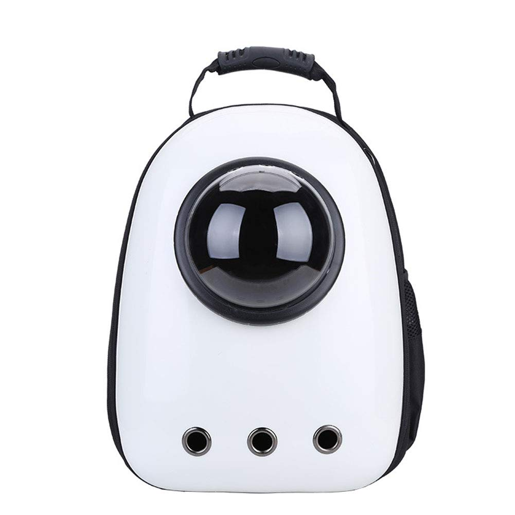 E Pet Backpack Space Capsule Bubble Design Transparent Cover Portable Pet Travel Breathable Backpack Suitable for Small Pet Dogs and Cats,D