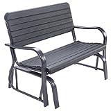 Outdoor Patio Swing Porch Rocker Glider Loveseat Garden Seat Steel Bench US .#GG4346 43ETR98-Y159419