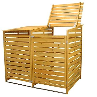 Wooden Double Wheelie Bin Store Box