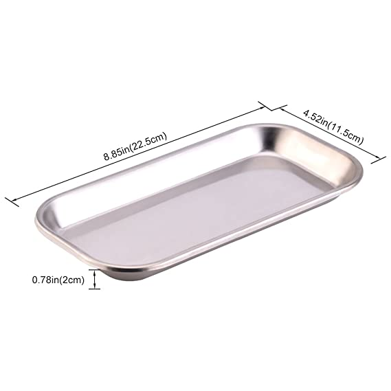 Amazon.com: Medical Tray Stainless Steel Instrument Lab Instrument Dental Tool Medical Dental Surgical Tool 8.85 x 4.52 x 0.78inch: Kitchen & Dining