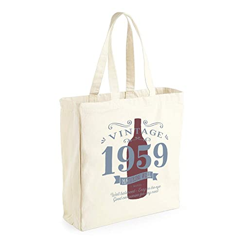 60th Birthday 1959 Keepsake Funny Gift Gifts For Women Novelty Ladies Female Vintage Red Wine Shopping Bag
