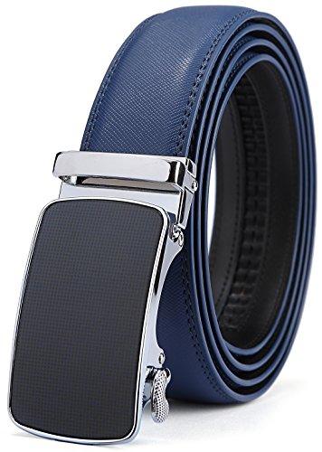 Bulliant Men Belt-Leather Ratchet Belt for Men with Sliding Buckle 1 3/8