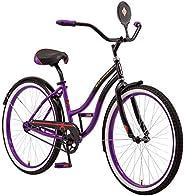 Schwinn Disney Queen Adult Classic Cruiser Bike, 26-Inch Wheels, Low Step Through Steel Frame, Single Speed, L