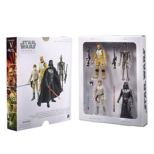 Saga Collection Luke Skywalker - Star Wars Digital Release Commemorative Collection Box Set - Episode 5 The Empire Strikes Back - Luke Skywalker, Darth Vader, Bossk, IG-88 (pack of four 3.75 inch action figures)