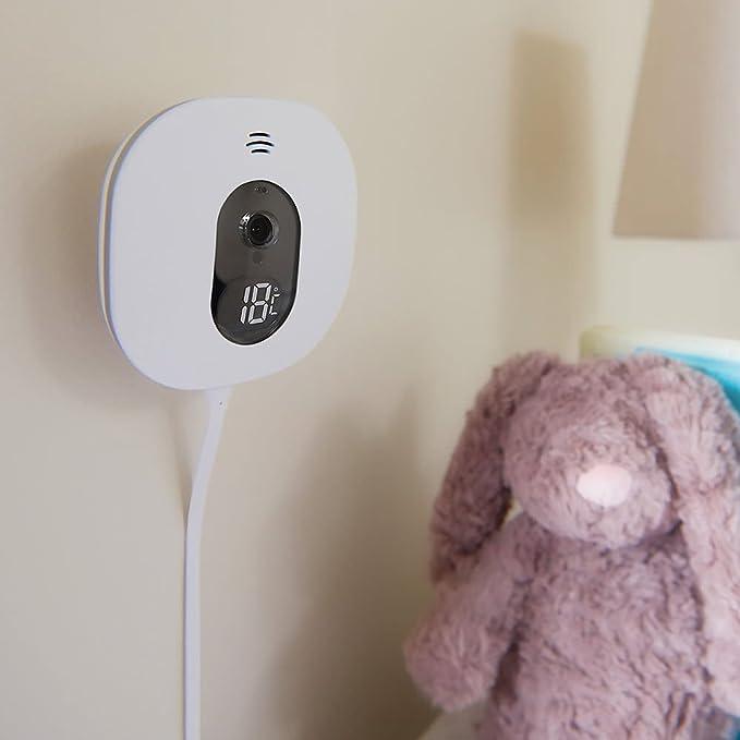 Angel Care a0517 de DE0 de A1019 Vigilabebés ib-ac517 con movimiento de video y supervisión de D/5/Wireless Sensor de pantalla Matte, color blanco: ...
