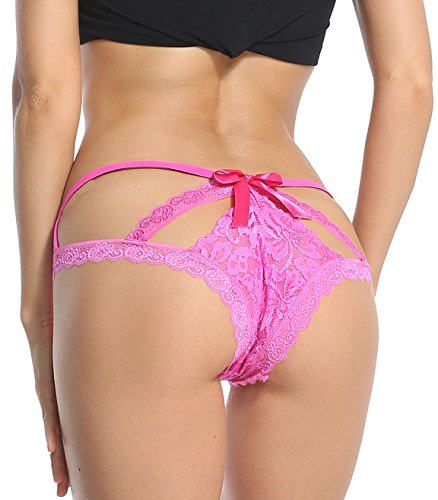 Sofishie Sexy Cage Back Panties - Pink - (Pink Womens Underwear)
