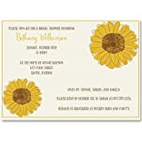 Amazon sunflower bridal shower invitations mason jar bridal shower invitations sunflower wedding shower yellow country chic rustic filmwisefo
