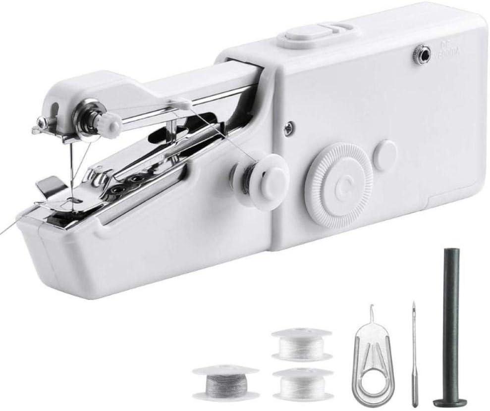 yhsndy maquina coser,maquina coser portatil Mini máquina de coser Costura rápida Costura Ropa inalámbrica Máquina de coser electrónica de tela