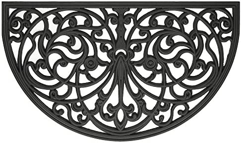 Achim Home Furnishings WRM1830IW6 Ironworks Wrought Iron Rubber Door Mat 18 by 30
