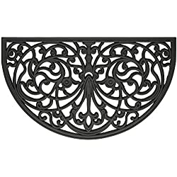 Achim Home Furnishings WRM1830IW6 Ironworks Wrought Iron Rubber Door Mat, 18 by 30""