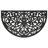 #10: Achim Home Furnishings WRM1830IW6 Ironworks Wrought Iron Rubber Door Mat, 18 by 30