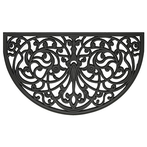 Achim Home Furnishings WRM1830IW6 Ironworks Wrought Iron Rubber Door Mat, 18 by 30