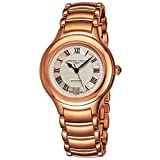 Frederique Constant Classics Delight Womens Rose Gold Watch - 38mm Analog Silver Face Ladies Watch with Second Hand, Date and Sapphire Crystal - Metal Band Swiss Made Automatic Watch for Women