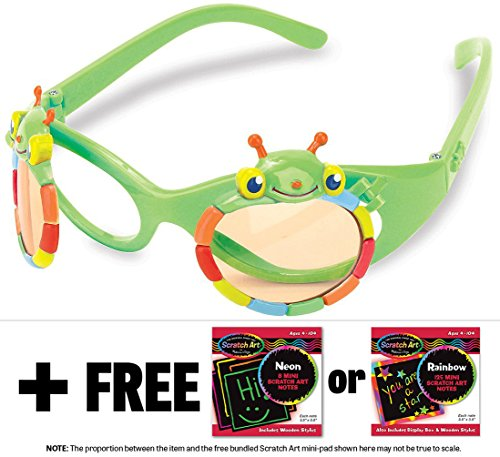 Happy Giddy Sunglasses + FREE Melissa & Doug Scratch Art Mini-Pad - 2014 Sunglasses Popular