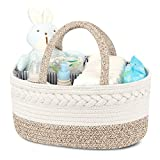 Diaper Caddy Organizer for Baby, Cotton Rope Diaper