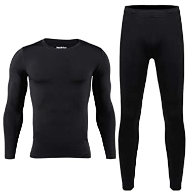 e801408d5 HEROBIKER Men Cotton Thermal Underwear Set Motorcycle Skiing Winter Warm  Base Layers Tight Long Johns Tops