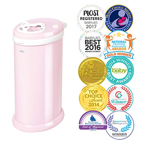 (Ubbi Money Saving, No Special Bag Required, Steel Odor Locking Diaper Pail,)