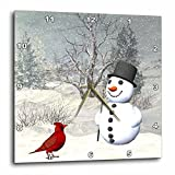 3dRose Cardinal and Snowman in Winter – Wall Clock, 13 by 13-Inch (dpp_18581_2) Review