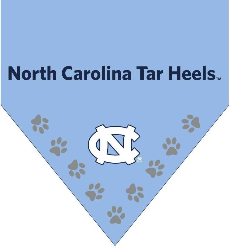 Shrunken Head Brand UNC Tar Heels Dog Bandana North Carolina Collar Attachable Pet Gear from