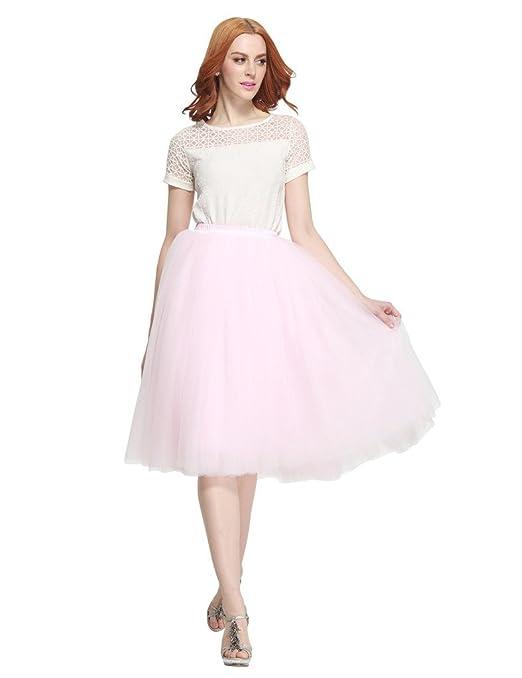 6fd246a46d519 Besila - Gonna da donna stile vintage anni  50 in tulle Champagne L XL   Amazon.it  Abbigliamento