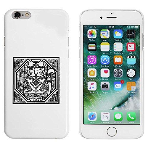 Blanc 'Chat à Motifs' étui / housse pour iPhone 6 & 6s (MC00083611)