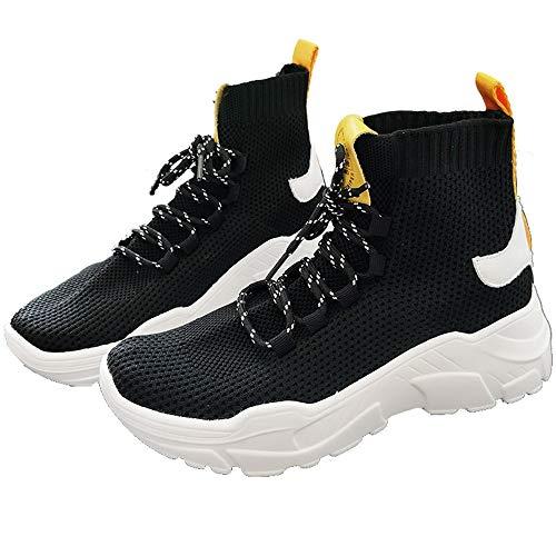 Joker amarillo Negro Street XINGMU y Hop Hip Sneakers Estilo Compensado Socks High Estilo xFR1qR7wYy