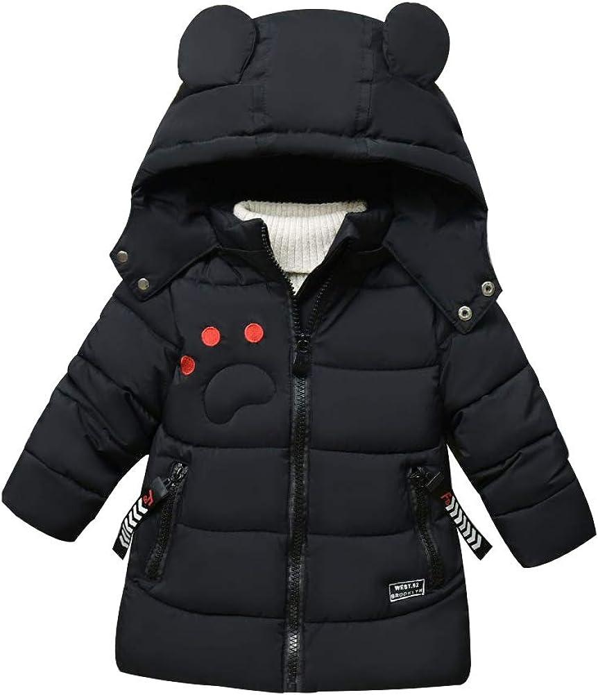 SXSHUN Bambino Giacca Invernale Stile di Orso Piumino Spesso Cappotto Caldo Trapuntato in Cotone