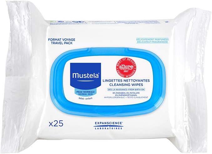 Mustela - Toallitas Cara Mustela 25 uds, Normal: Amazon.es: Hogar