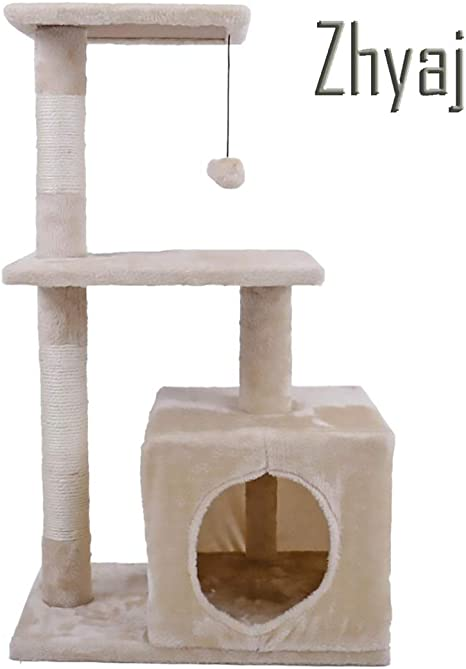 Zhyaj Rascador para Gatos Alta Estabilidad Escalador con Escalera Gato Escalada Mueble Pet Scratching Post con Hamaca De Gato Pelota De Juguete Gatos Accesorios,A: Amazon.es: Deportes y aire libre